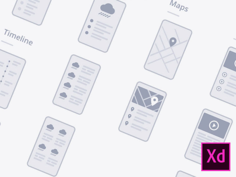 Mobile Wireflows Adobe Xd Template Xd File