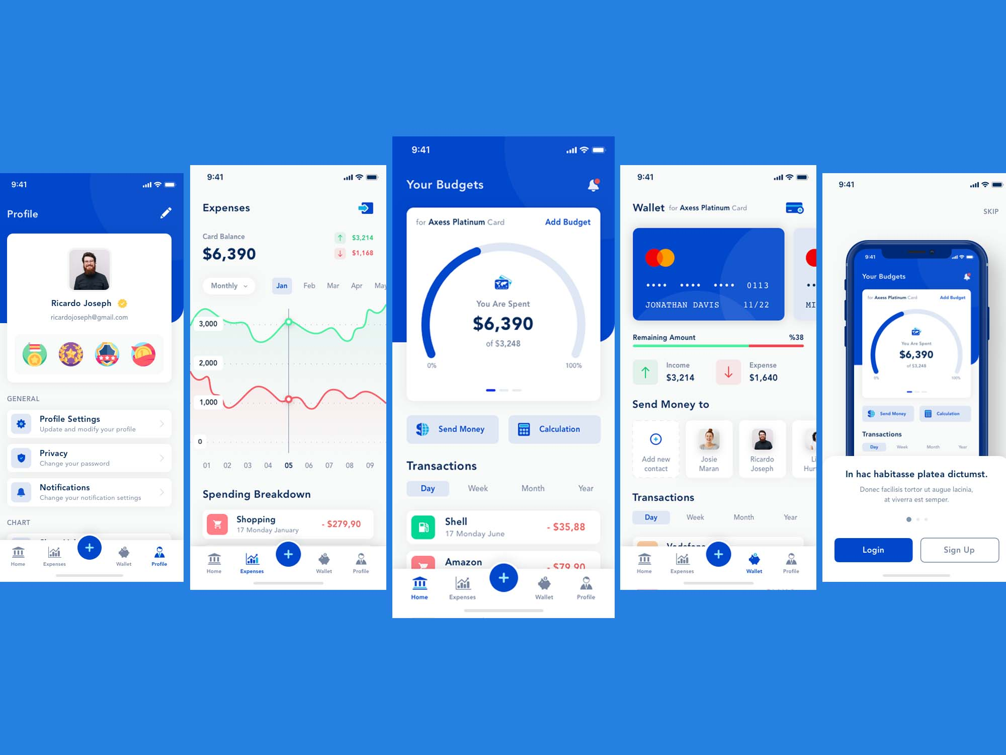 free bank app template  sketch