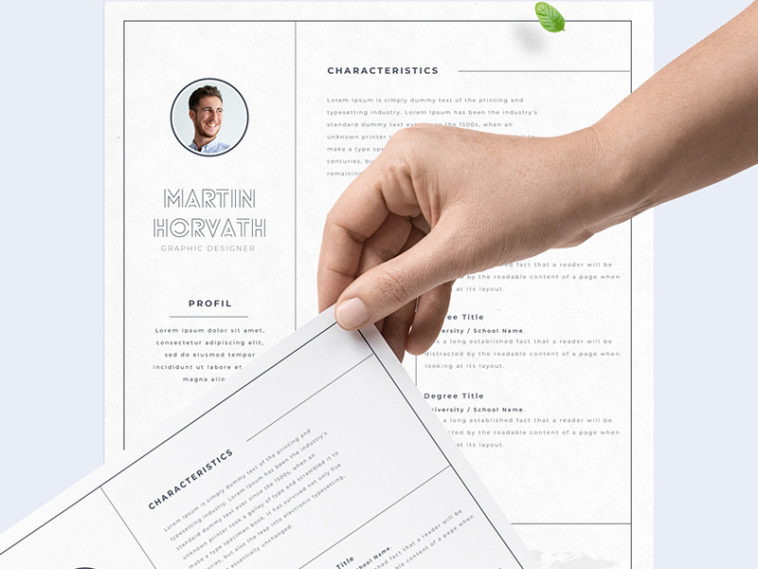 Free Professional Resume For Adobe Xd Xd File