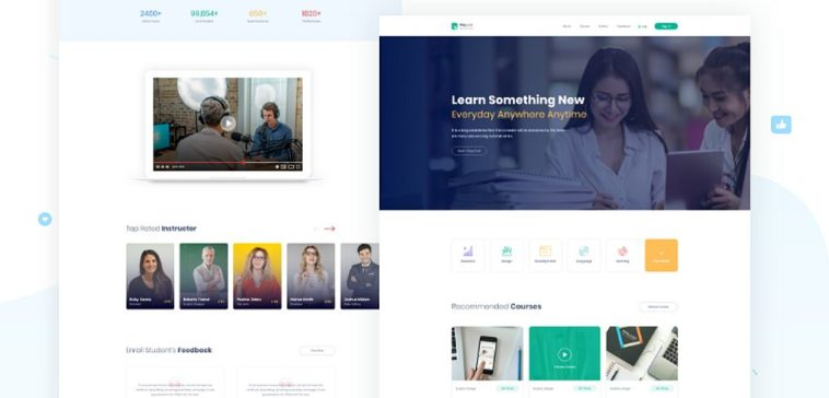 Free Online Course Xd Website Template Xd File