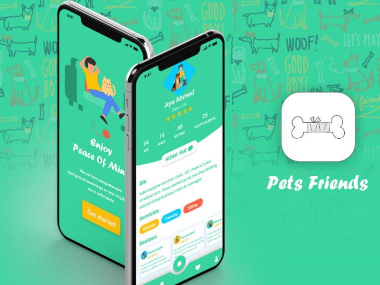 Free Pets Friends App Ui Ux Design Xd Templates Xd File