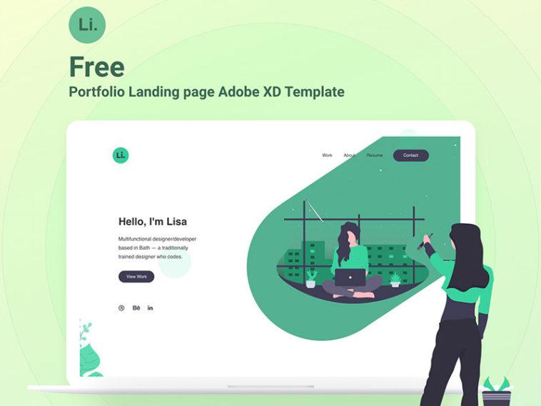 Adobe Xd Portfolio Landing Page Template Xd File