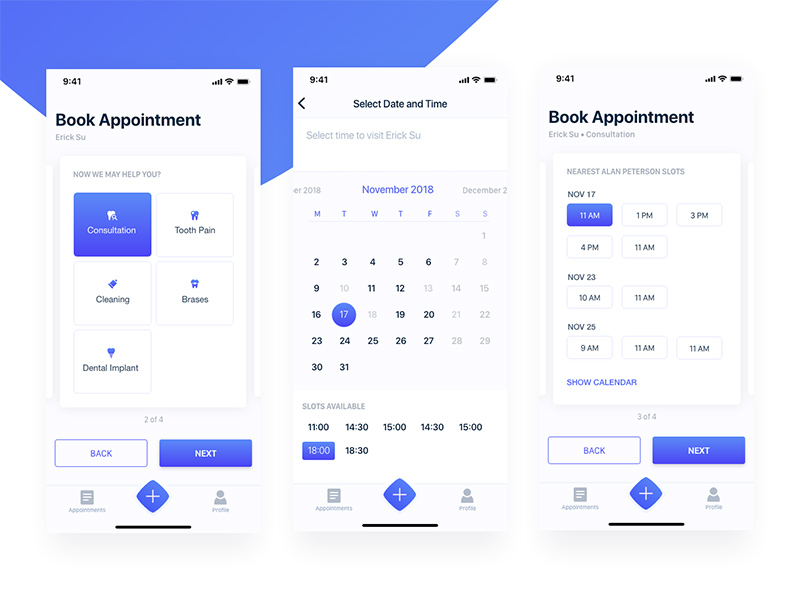 Free Booking Appointment Ui Kit Xd Xd File