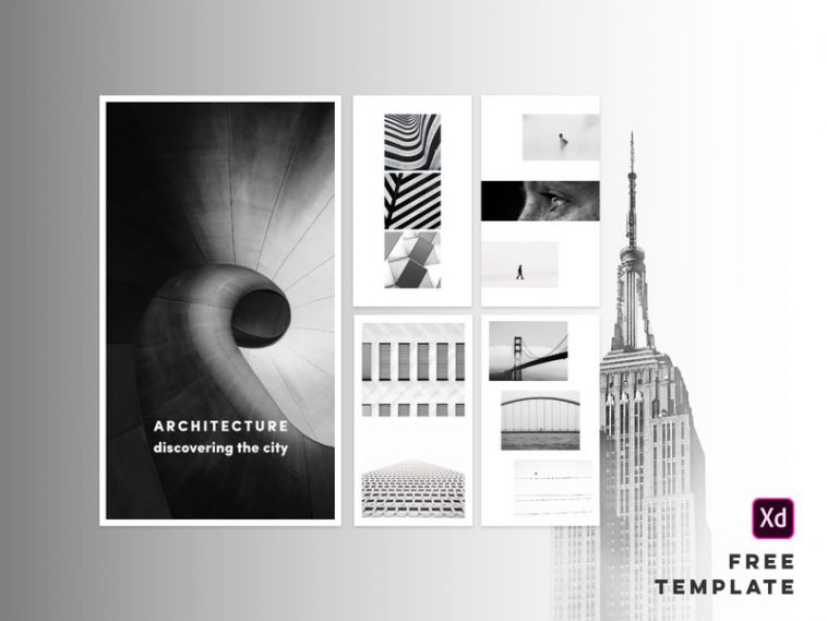 Free Architecture Instagram Stories XD Templates