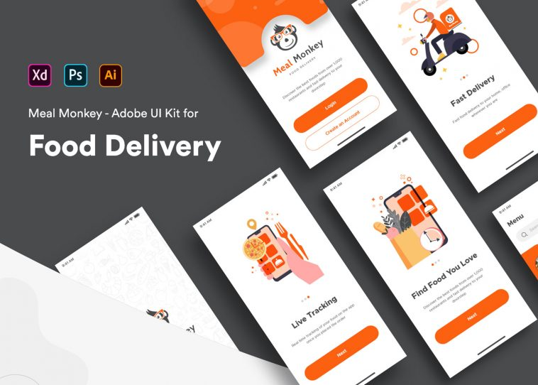 Food Delivery iOS App UI XD Template